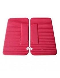 Coppia pannelli porta anteriori Fiat 500 L rossi ecomonici