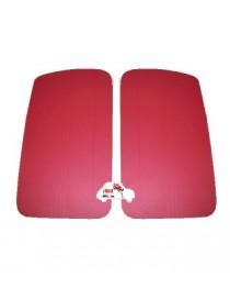 Coppia pannelli porta anteriori Fiat 500 D - Giardiniera rossi in Vipla