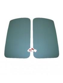 Coppia pannelli porta anteriori Fiat 500 D - Giardiniera verdi in Vipla