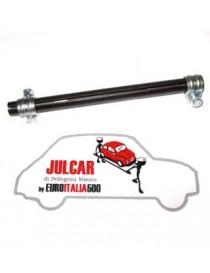 Tubo filettato con collari collegamento testine sterzo Fiat 500/126