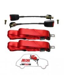 Cinture di sicurezza Omologate rosse statiche Fiat 500