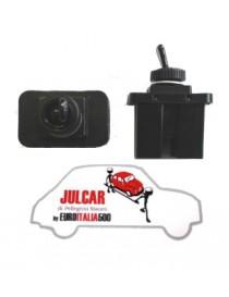 Interruttore illuminazione quadro 2 attacchi piatti in plastica Fiat 500