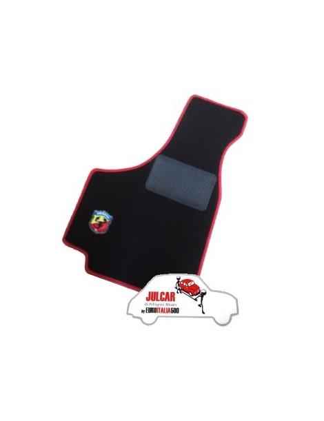 Kit sovratappeti Abarth bordo rosso Fiat 500 ( 4 pezzi )