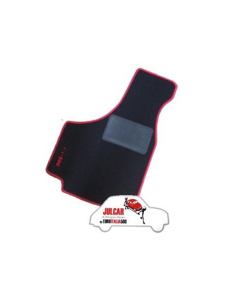 Kit sovratappeti bordo rosso Fiat 500 ( 4 pezzi )