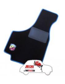 Kit sovratappeti Abarth bordo blu Fiat 500 ( 4 pezzi )