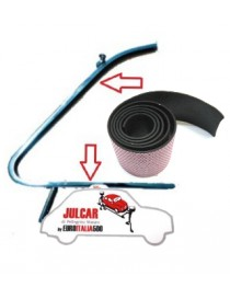 Coppia guarnizione tra telaio e vetro deflettore Fiat 500